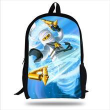 Pulgadas 2017 populares bolso de escuela los niños niños impresión de la historieta mochila hero personajes superman ninjago bolsa para niños niño niña