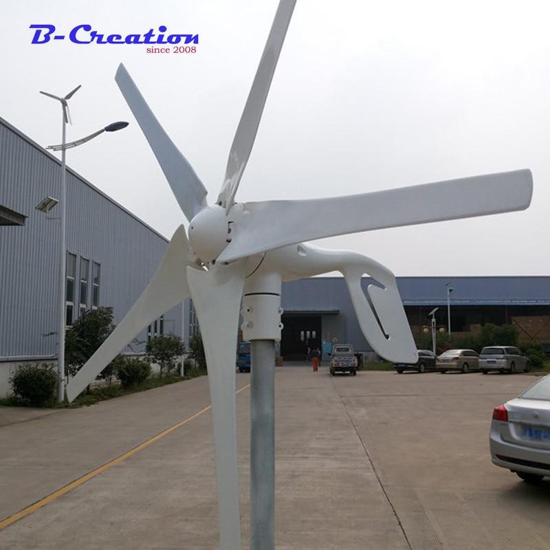 400 W 3 lames ou 5 pales éolienne éolienne avec 600 W contrôleur étanche 12 V 24 V