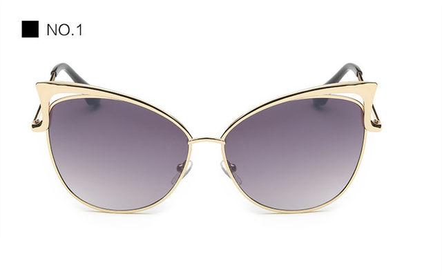 Luxury Cat Eye Sunglasses Women Brand Designer Retro Vintage Sun Glasses For Women Female Ladies Sunglass Mirror Lunettes Oculos (11)