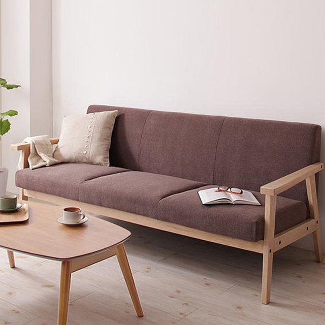 Ah Schmitt Nordic Wood Futon Washable Fabric Sofa Sofa Chair Office Cafe  Small Apartment Sofa