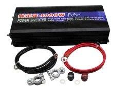 Onduleur à onde sinusoïdale Pure pour voiture, 4000W, 24v Dc vers 220v Ac, convertisseur de puissance pour voiture, bateau, appareils ménagers