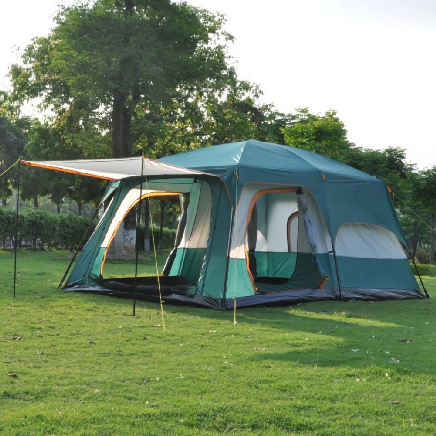 Luxury ultralarge Outdoor 6/8/10/12 Persons c&ing 4 Season Tent Two Bedroom Tent Big Space C&ing Tent Party Family Tent-in Tents from Sports ... : two bedroom tent - memphite.com