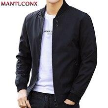 MANTLCONX najnowszy jednolity kolor, na jesień męskie kurtki męskie w stylu Casual, na zamek błyskawiczny letnia kurtka mężczyźni wiosna na co dzień znosić mężczyźni cienka kurtka mężczyzna jesień