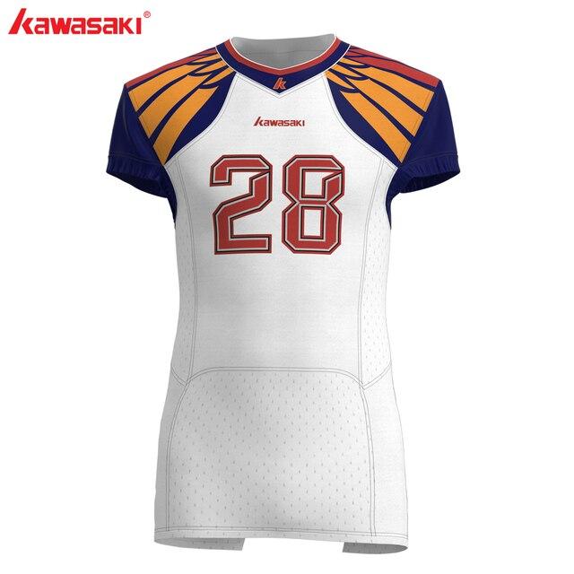Kawasaki Custom Sublimation American Football Jersey Top Men USA Collage  Practice /Racing Football Shirts Jersey Plus Size