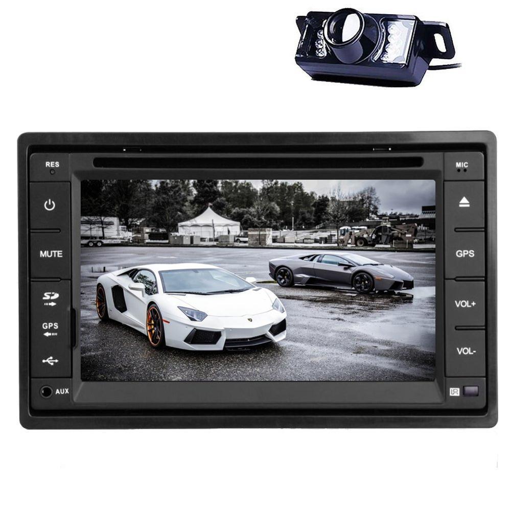 universal double 2 din in dash car stereo 6 2 inch gps navigation headunit in deck dvd fm car. Black Bedroom Furniture Sets. Home Design Ideas