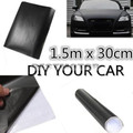 Universal 150x30cm Matt Matte Black Car Auto Body Sticker Decal Self Adhesive Wrapping Vinyl Wrap Sheet Film
