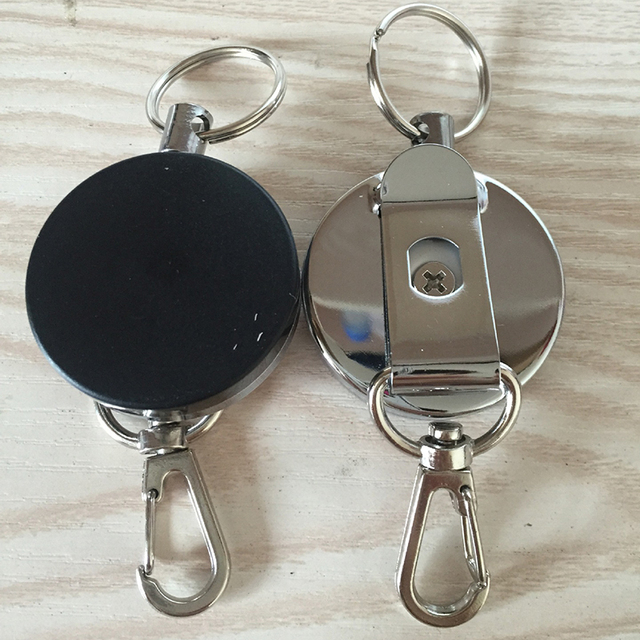 Resilience Steel Wire Rope Elastic Keychain Sporty Retractable Alarm Key chain Anti-lost telescopic  1