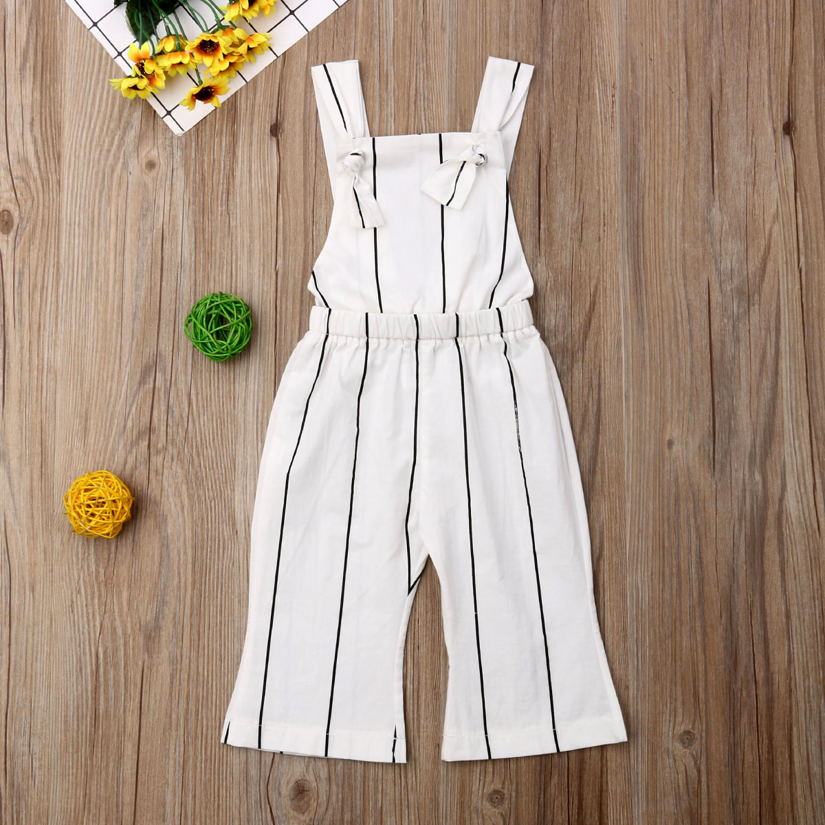 Summer Toddler Kids Baby Girls Clothes Striped Jumpsuit Playsuit One-Pieces Outfits