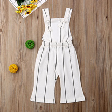 Summer Toddler Kids Baby Girls Clothes Striped Jumpsuit Play