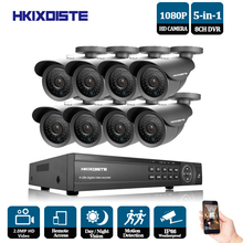 HKIXDISTE HD Outdoor Security Camera System 1080P HDMI CCTV Video Surveillance 8CH 1920*1080P AHD DVR Kit AHD 2.0MP Camera Set