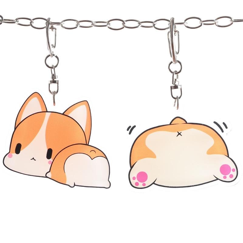 Cartoon Keychain Cute Funny Anime Bag Pendant Hamster Corgi Husky Dog Cat Animal Keychain Couple Gift Key Chains Aliexpress