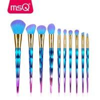 MSQ Unicorn Makeup Brushes Set 7pcs Rhinestone Tools Powder Foundation Make Up Brush Kit Duo Color