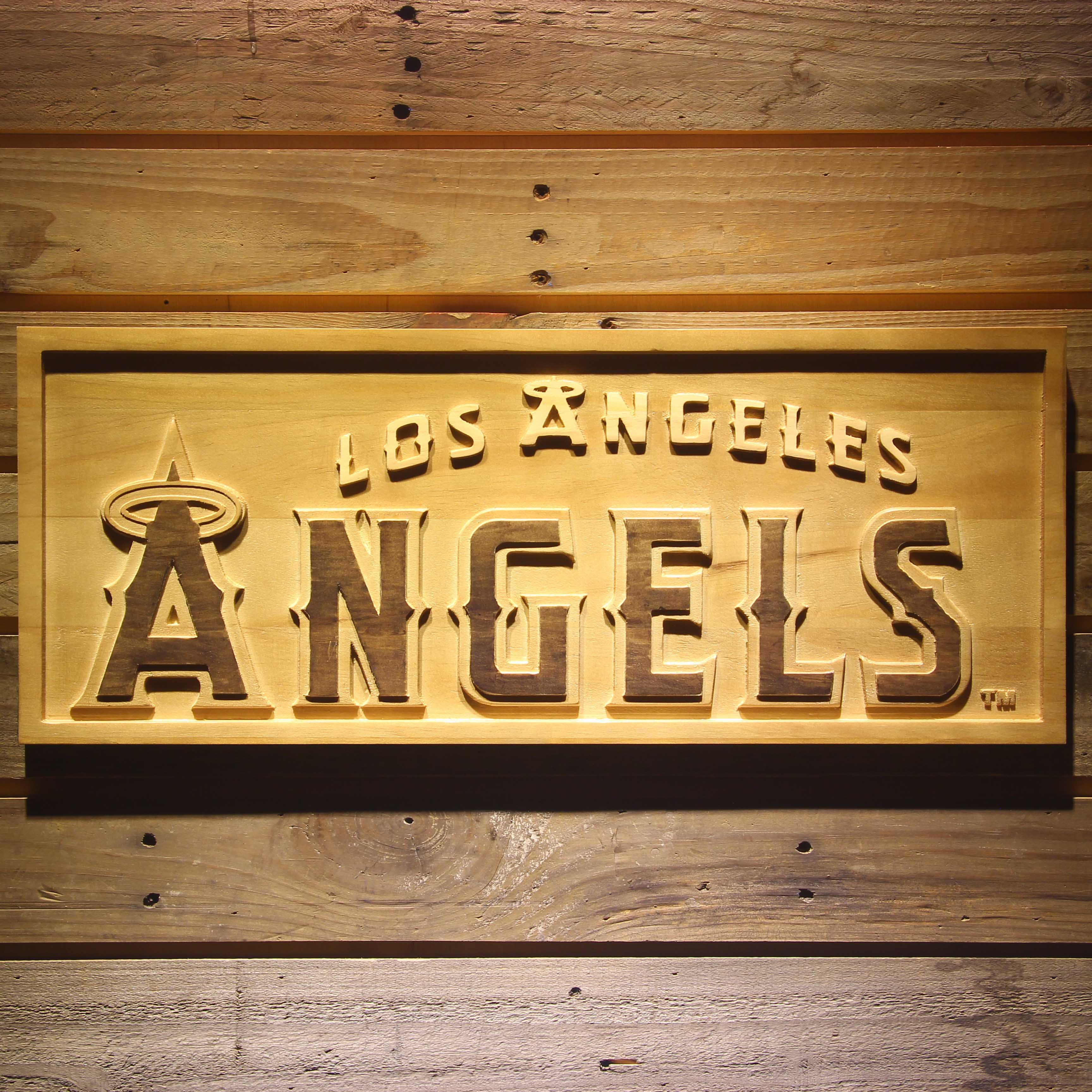 Los Angeles Angels of Anaheim 3D Wooden Sign