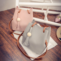 LeTrend Bucket Tassel Simple Solid Flap Women's Bag Women Handbags Female Messenger Crossbody Bags Lady's Shoulder Girl Fashion