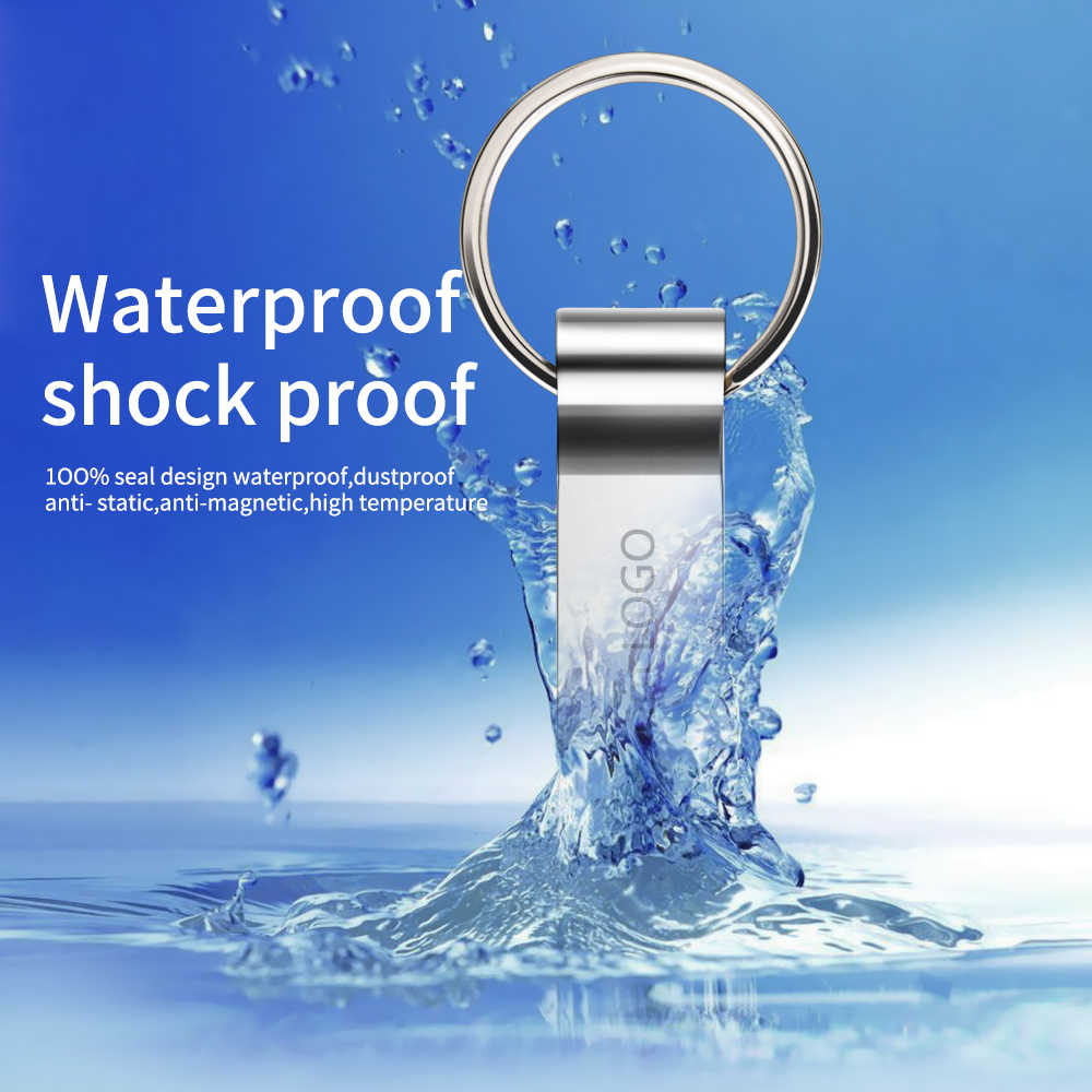 Pendrive 64GB wodoodporna USB 3.0 metalu wysokiej prędkości 128GB pen drive 16GB 8GB 4GB USB flash napęd 32GB pamięć USB darmowe niestandardowe logo