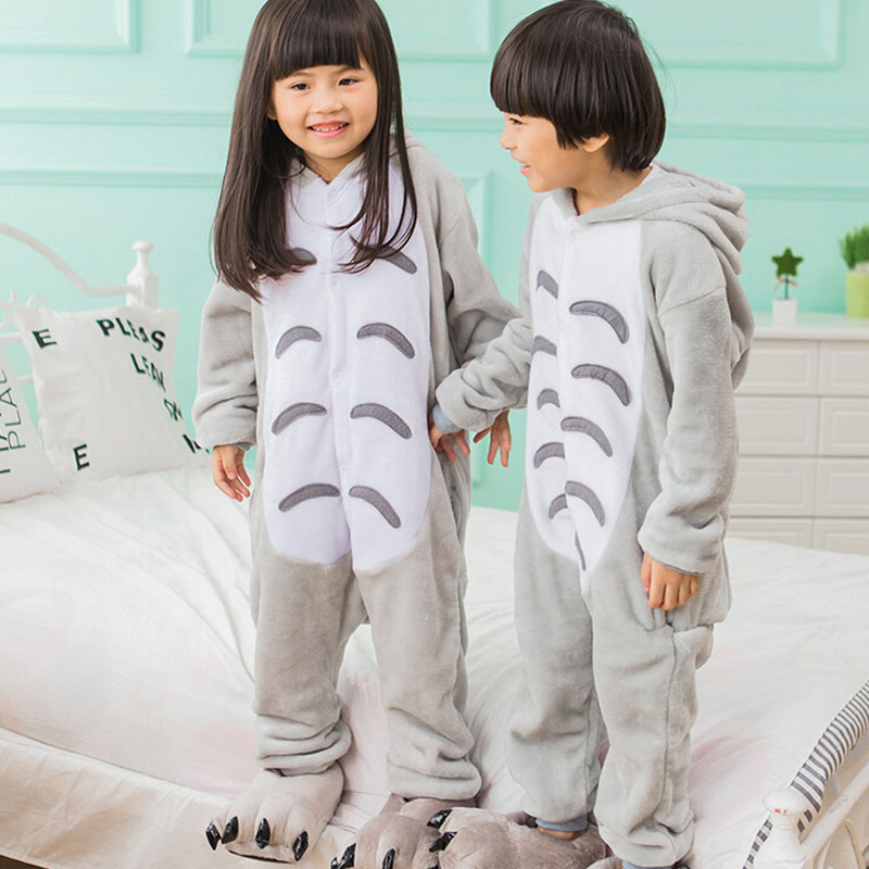 Boy Girl Kigurumi Anime Totoro Cosplay Fancy Soft Animal Costume Overall Child Kid Baby Funny Carnival Jumpsuit Onesie