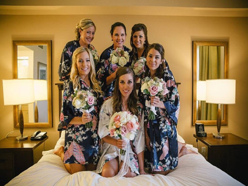 Silk Robes For Bridesmaids Satin Robes Bridesmaid Dressing Gowns ...