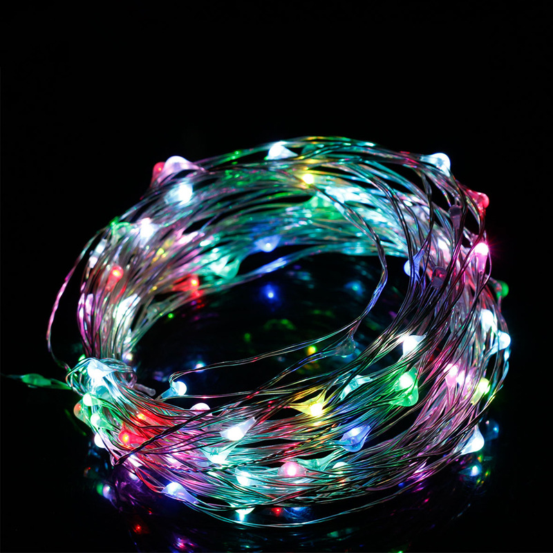 Holiday Light Garland LED Lights Decoration Waterproof Christmas Lighting 5m 2m Multi Color RGB Party Lights for 3 x AA Battery