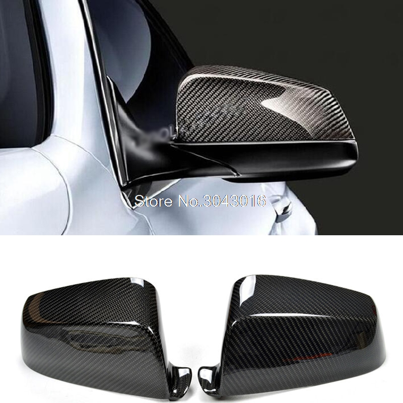 For BMW 5 6 7 Series F07 F06 F12 F13 F01 F02 2009 - 2013 Add On Style & Replacement Style Carbon Fiber Rear View Mirror Cover replacement car styling carbon fiber abs rear side door mirror cover for bmw 5 series f10 gt f07 lci 2014 523i 528i 535i