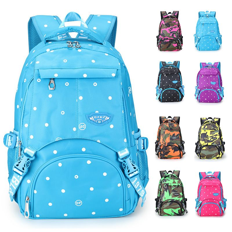 ECOPARTY Women Backpack new Fashion Causal Floral Dotted Printing Backpacks canvas Backpack For Teenagers GirlsHigh Quality
