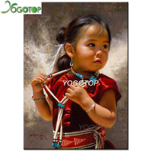 YOGOTOP Full Square Diamond Embroidery DIY Painting Cross Stitch Kits Indian girl 5D Mosaic Home Decor QA152
