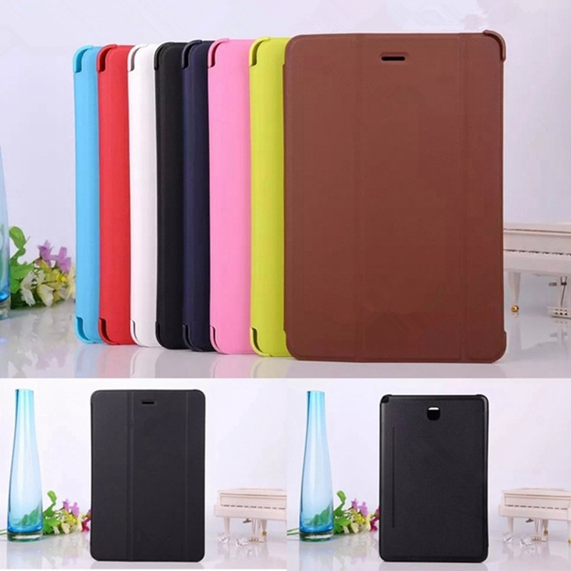 Hot wholesale Business Ultra Slim Smart Pu Leather Book Cover Case For Samsung Galaxy Tab A 8.0 T350 T351 T355 + Stylus free 3 in 1 high quality business smart pu leather book cover case for samsung galaxy tab s2 t710 t715 8 0 stylus screen film