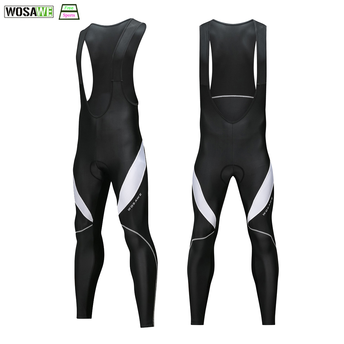 цена на WOSAWE Warm Up Cycling Bib Trousers 3D Gel Padded Cycling Long Leggings Bicycle Bib Tights Winter Thermal Pro Cycling Pants