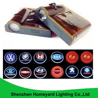 2pc Car Accessories Of Led Door Ghost Shadow Welcome Light Car Door Light Replacement For TOYOTA