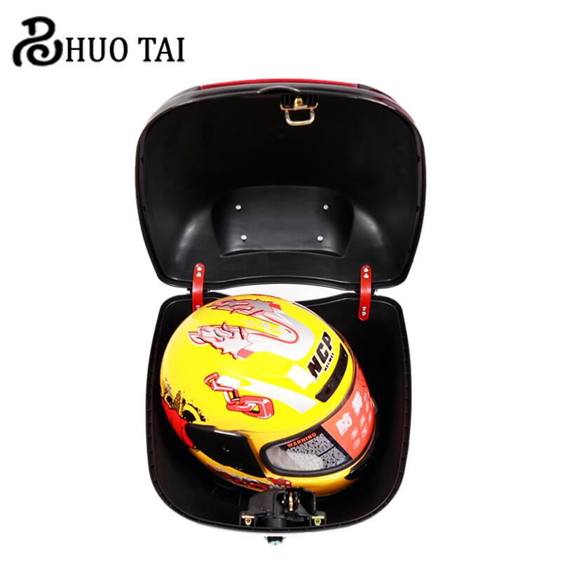 ФОТО Waterproof Battery Rearbox Electric Vehicle Trunk solid PP Motorcycle Tailor Tortoisee Tail Box Tail stock cases 40*37*28cm
