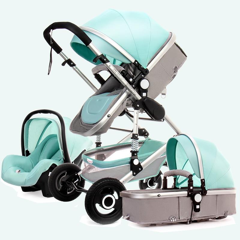 High Landscape Stroller Can Sit Reclining Two-way Lightweight Folding Shock Absorber Newborn Baby Stroller