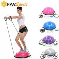 58cm Yoga Balance Balls Fitness Gym Workout Bosu Half Yoga Ball Exercises Fitness Balance Trainer Balls with Strings & Pump
