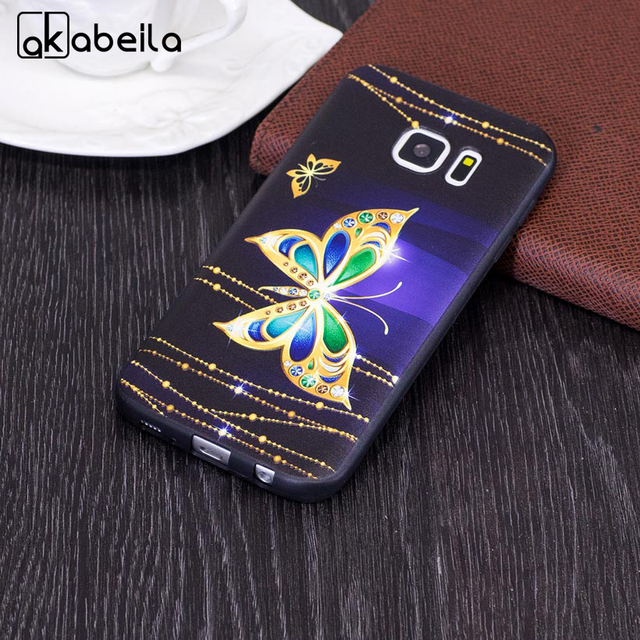 AKABEILA Mobile Phone Case For Samsung Galaxy S7 Cover G930F G930FD G930W8 G930 G9300 SM-G930A Case DIY Painted TPU Bag Skin