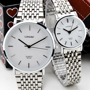 Fashion Longbo Luxury Brand full stainless steel Lady men Couple Clock Casual quartz Business Dress watch montre femme de marque new business casual watch trend fashion business couple watch