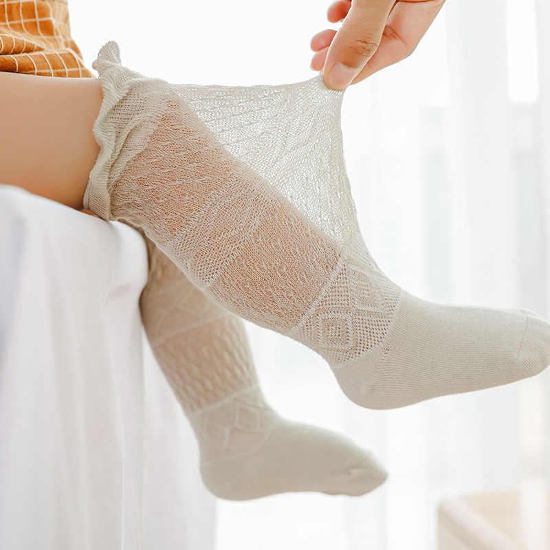 0-5 ครั้งเด็ก Tights ทารกเด็กวัยหัดเดินทารกแรกเกิดเด็ก Pantyhose ลูกไม้ชุดชั้นใน Breathable เด็กถุงน่องผ้าฝ้ายนุ่มเด็ก warm Tights