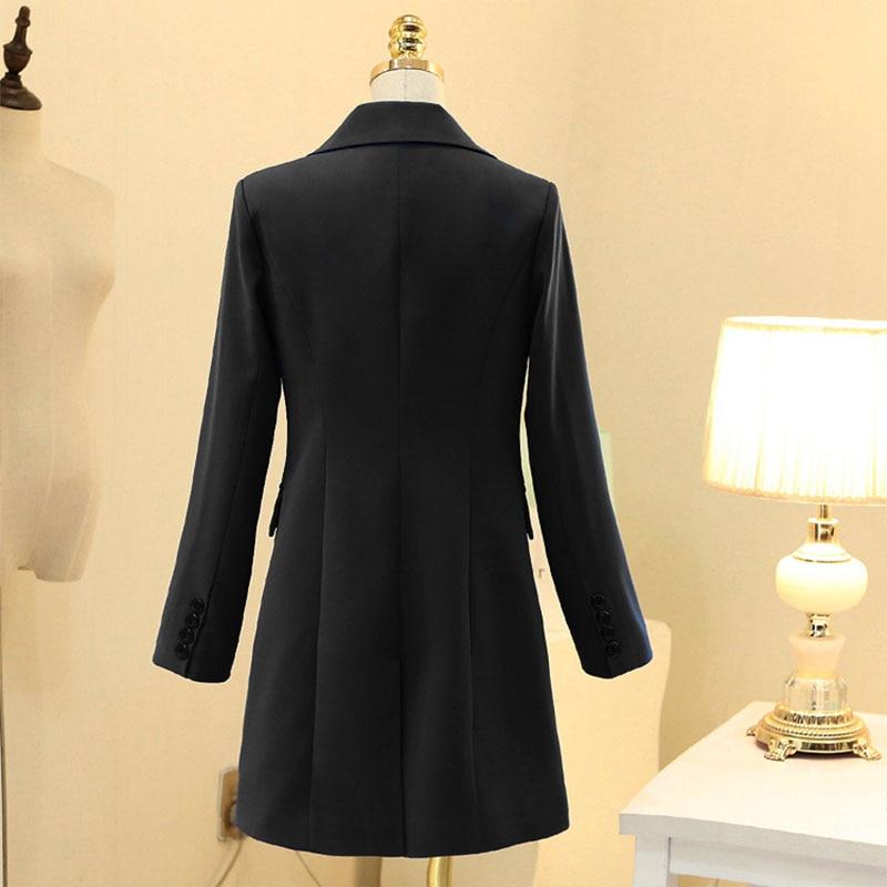 Long Longue Lady 4xl Élégant Costume Blazer Plus La Vestes Noir Office Surdimensionné Dames Black 5xl Pour Femmes 3xl Grande Taille dhCxBsQotr