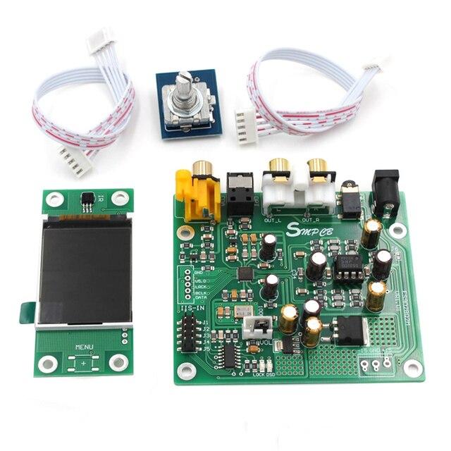 ES9038 Q2M I2S DSD óptica Coaxial IIS/DSD DOP 384KHz decodificador de entrada DAC auriculares salida Placa de amplificador de audio