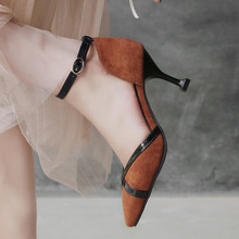 33-43 Shoes Women Heels Big Size Spring High Heels 7.5 CM Pumps Women Shoes