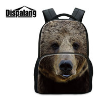 Dispalang 3D Zoo Animal Printing Backpack Wolf Dog Fox School Bags For Teenage Boys Men S