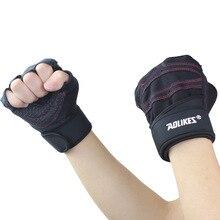 Sports Harf Finger Gloves Fitness Exercise Dumbbell Weight Lifting Training Gym Breathable Anti slip Semi Finger