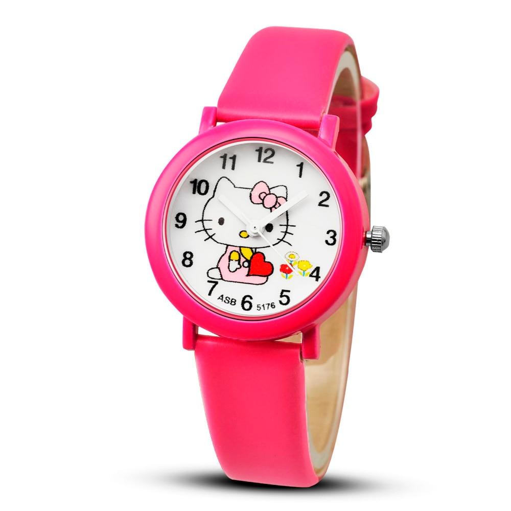Children Watches Hello Kitty Pink Fashion Wristwatch Kids Watch Clock montre relogio feminino montre femme saat zegarek damski new arrived cartoon quartz watch hello kitty fashion wristwatch for kid children cute elegant relogio feminino masculino clock