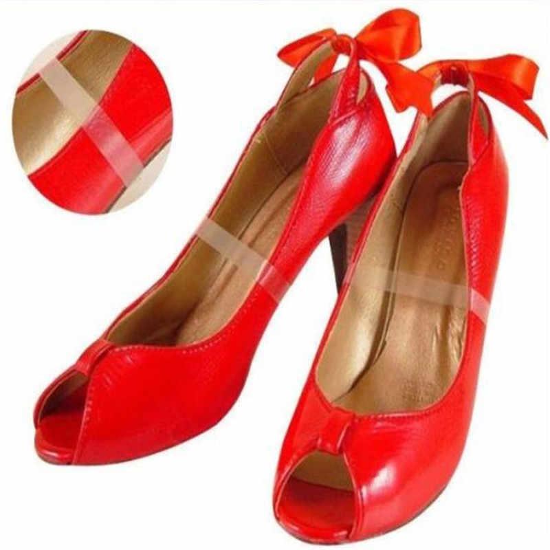 2 sztuk sznurowadła do butów przezroczyste, niewidoczne damskie buty na wysokim obcasie TPU zespół kostki pasy sznurowadła