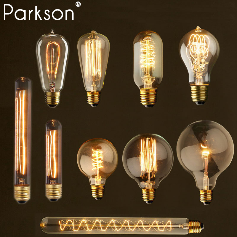 retro vintage edison bulb e27 40w 220v ampoule vintage lamp edison bulb Incandescent Filament led light bulb industrial decor new copper gold color e27 pendant light lamp holder 220v led bulb incandescent edison bulb led vintage retro decor hanging lamp