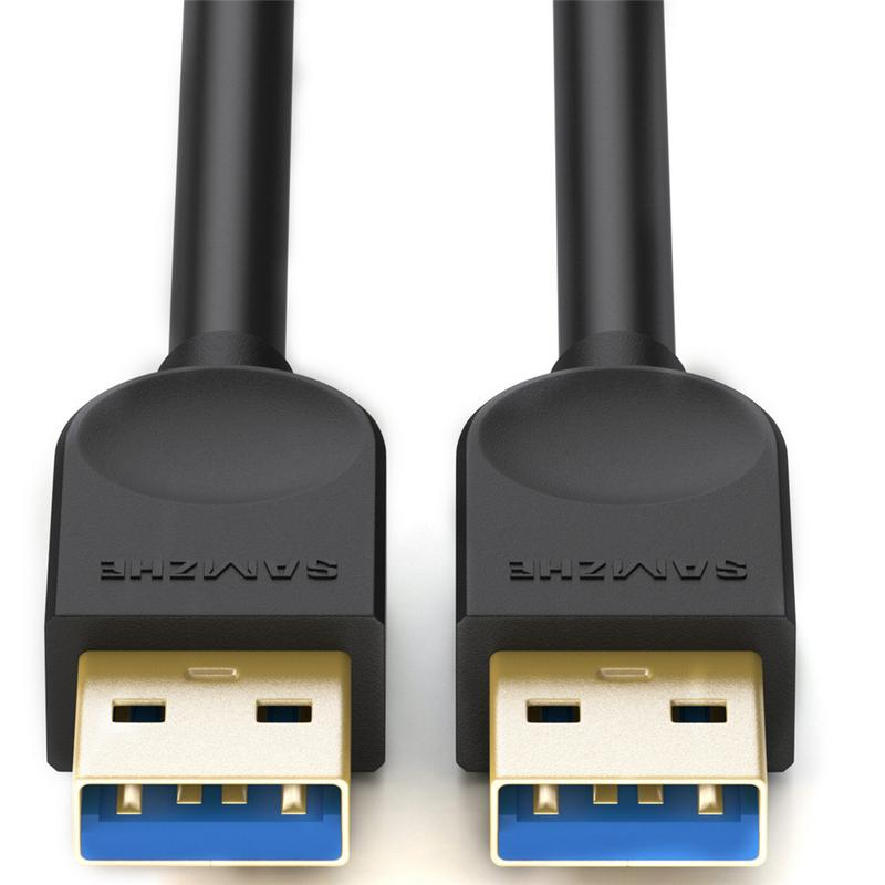 A Male To <font><b>B</b></font> Male Data Cable USB3.0 Extension Date Line <font><b>3.0</b></font> <font><b>USB</b></font> Date Line <font><b>Black</b></font> <font><b>USB</b></font> Cable High Speed <font><b>USB</b></font> Extension Cable image