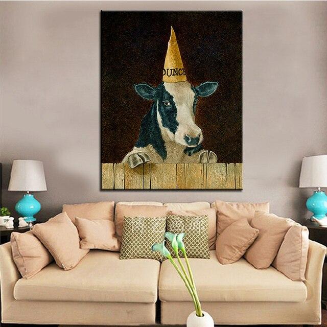 Attractive Große Größe Druck Ölgemälde Dumm Kuh Wand Malerei Wandkunst Dekoration Bild  Für Wohnzimmer Malerei Kein Rahmen