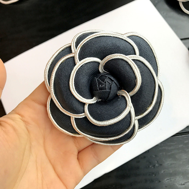 1689991d1 i-Remiel Korean High-grade Flower Brooch Cloth Art Classic Camellia Broche  Pins & Brooches Women Shawl Shirt Collar Accessories