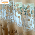 Modern Elegant Style Tulle Curtain Jacquard Polyester Fabric Decorate Home Drawing Room Voile Cutain Accept Custom 1pc Sheer