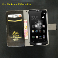 TOP New! Blackview BV8000 Pro Case 5 Colors Flip Luxury Leather Case Exclusive Phone Cover Credit Card Holder Wallet+Tracking
