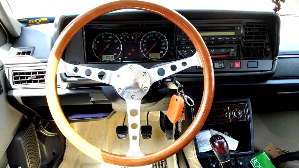 Brushed aluminium alloy spoke15 inch 38cm universal vintage classic wood wooden car steering wheel with horn