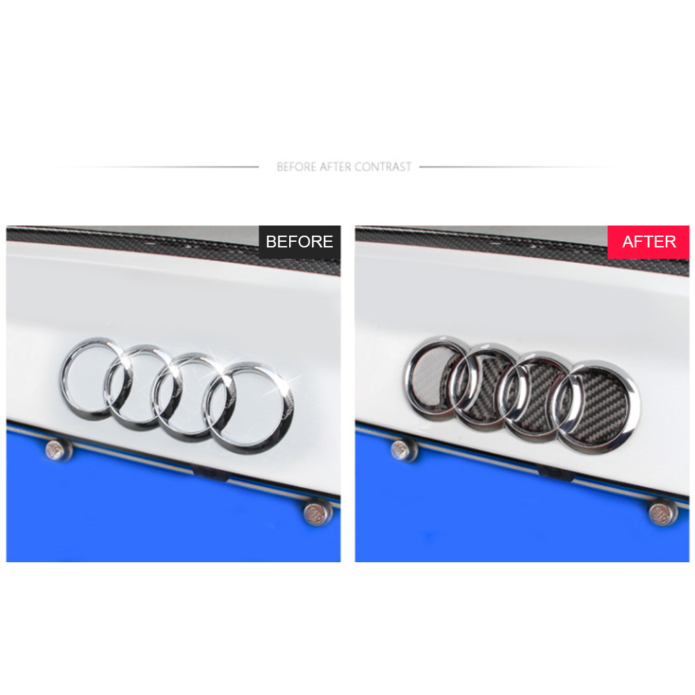 Image 3 - Carbon Fiber Logo Rear Trunk Badge Emblem Decal Sticker Replacement for Audi Car Logo Decal Car Tail Label Vehicle-in Car Stickers from Automobiles & Motorcycles
