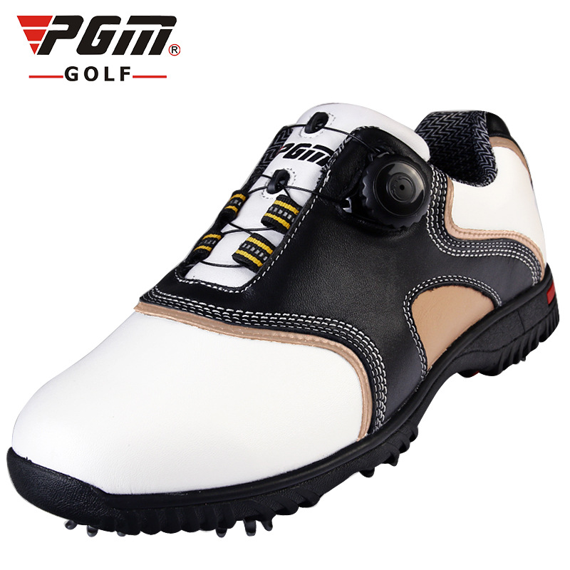 купить brand PGM Genuine Leather Mens Tour 360 Boa Boost Waterproof Spiked Golf Sports Shoes Pro Tour Steady Spikes Sneakers по цене 4412.5 рублей